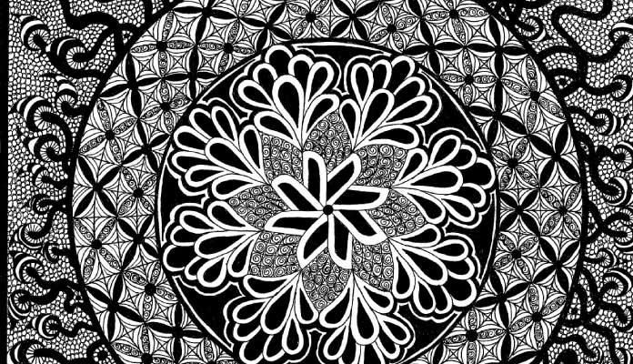 zentangle art color